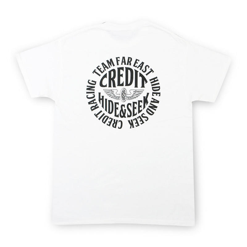 "HideandSeek × CREDIT T-SHIRTS ""TEAM FAR EAST""・White"