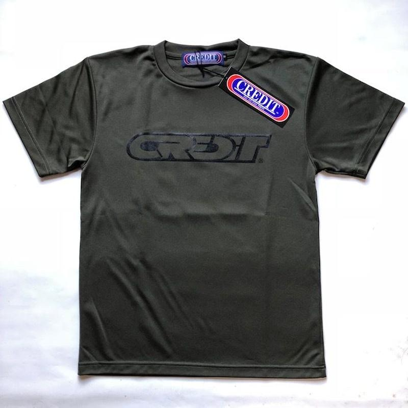 CREDIT Stadium Cross 315 T-SHIRTS ~ DRY Tee・Army Green