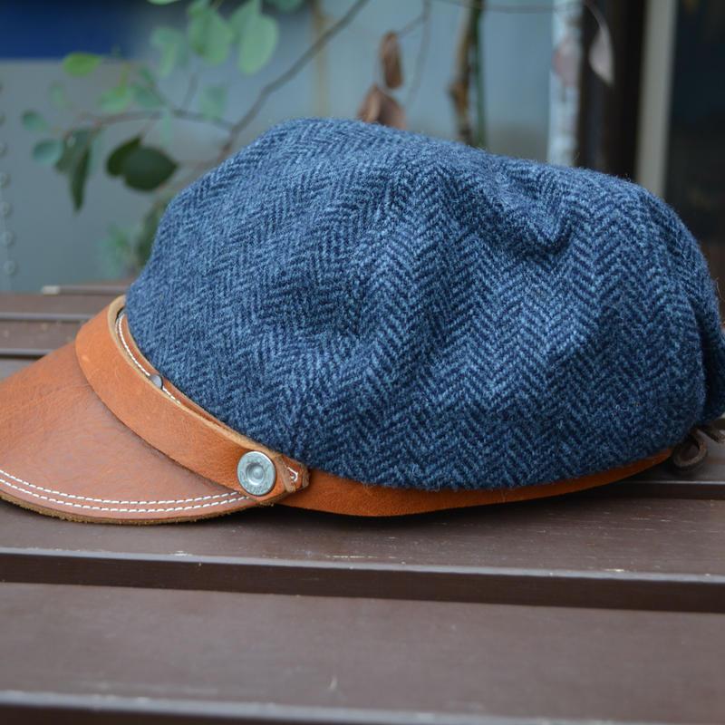 boncoura ボンクラ帽 ブルーツイード