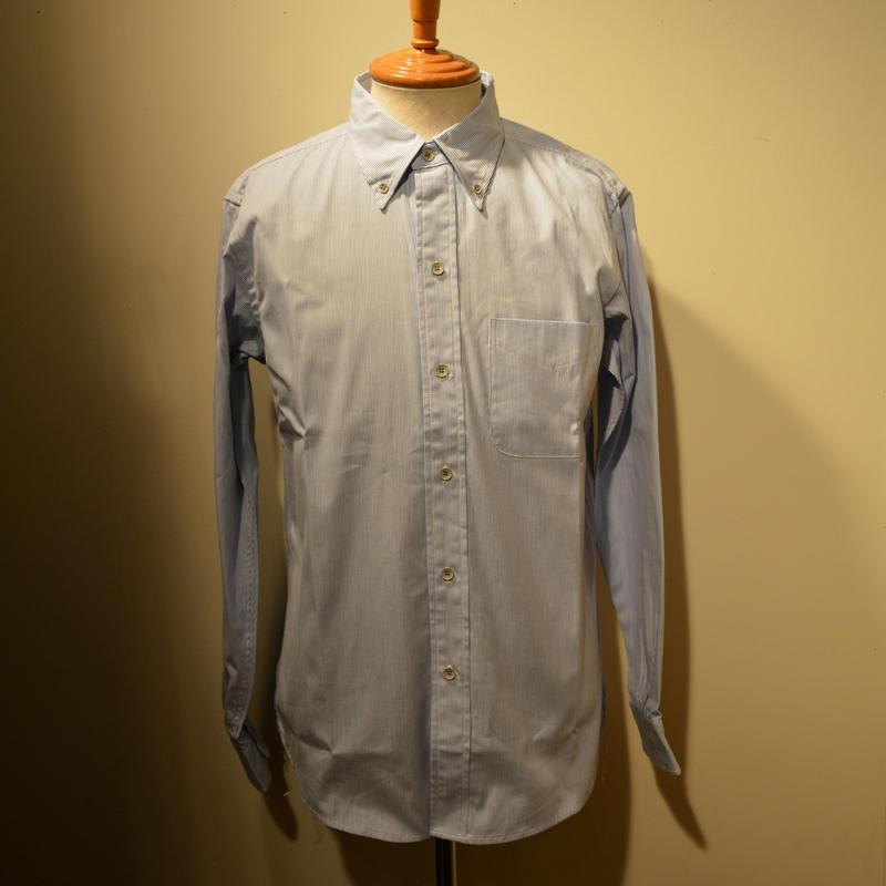 boncoura 2019ss コードレーンストライプBDシャツ(BLUE)