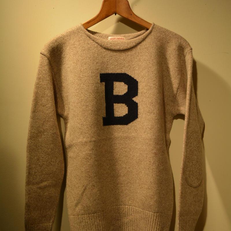 boncoura Bセーター ナチュラル×ネイビー