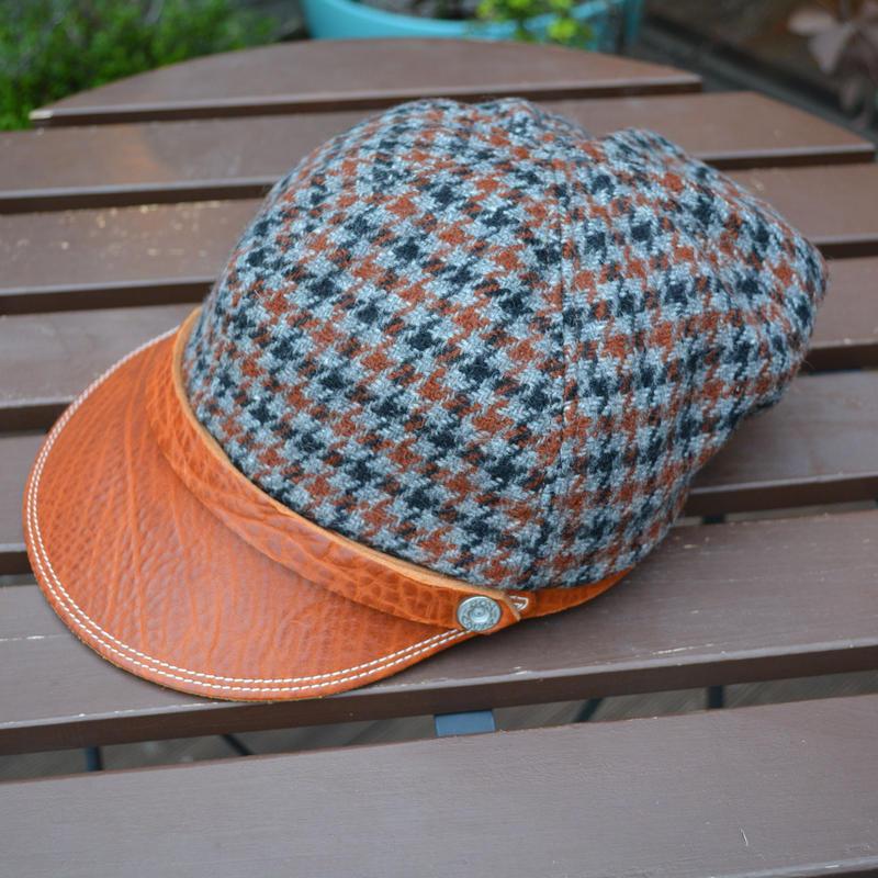 boncoura ボンクラ帽 ガンチェックツイード