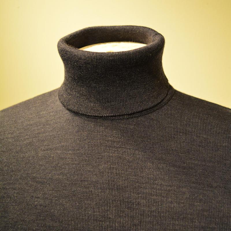 boncoura タートルネックセーター ネイビー
