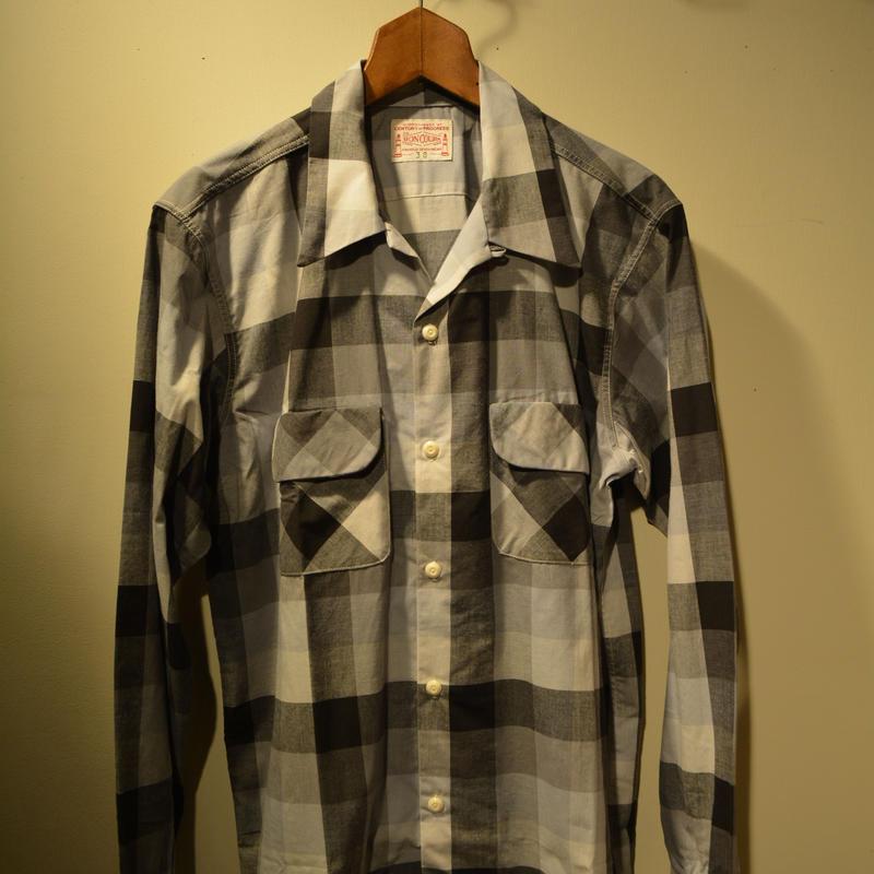 boncoura ワンナップシャツ ブロックチェック