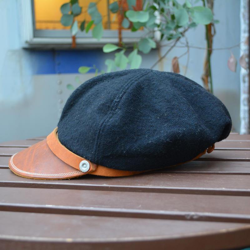 boncoura ボンクラ帽 デニム織り(コットン×ウール)