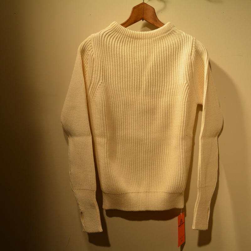 ANDERSEN-ANDERSEN   THE NAVY CREWNECK  ‐off white‐
