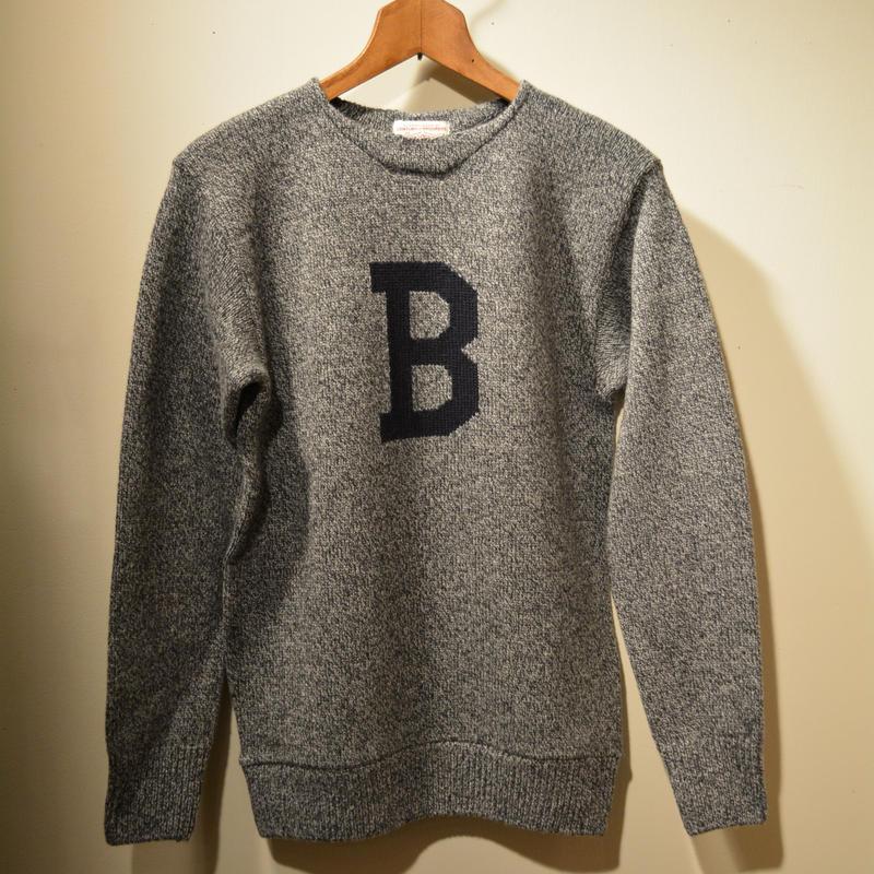 boncoura 2017aw Bセーター グレー杢