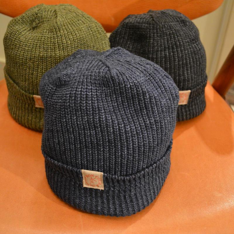 boncoura コットンニット帽