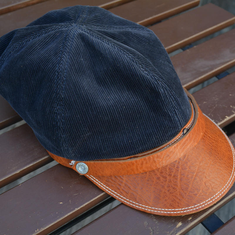 boncoura ボンクラ帽 コールテン(ネイビー)