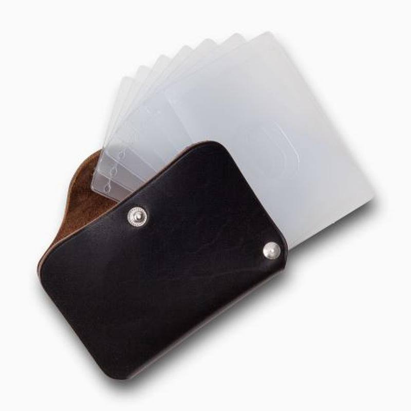 PHIGVEL‐MAKERS Co. pm‐㏄ card case -vintage black-