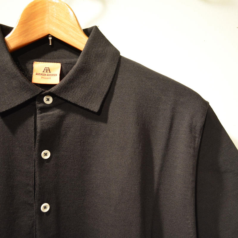 ANDERSEN-ANDERSEN POLO SHORT - BLACK-