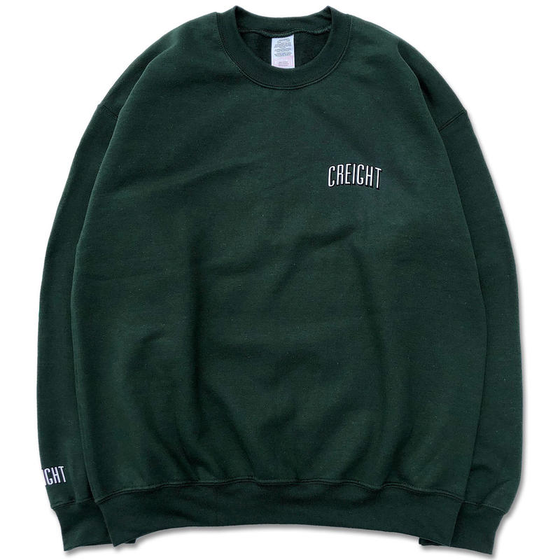 "CREIGHT""LOGO Crew 8oz""/DARK GREEN"