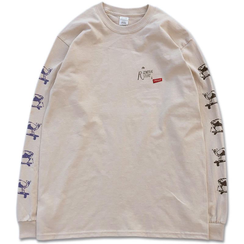 "R GENERAL STORE&CREIGHT ""KYON LTD L/S TEE"" / SAND"