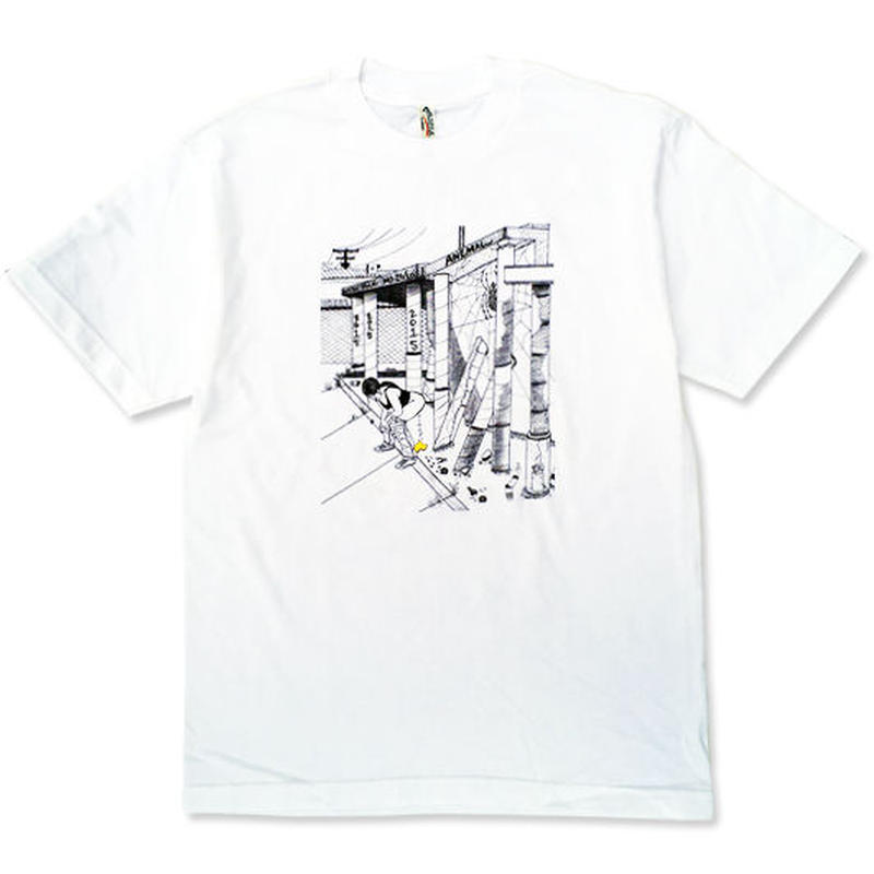 "OURLIFE ""GOLDEN HOUR TEE"" / WHITE"