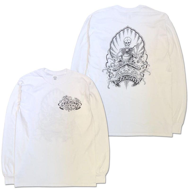 "CREIGHT×野坂稔和 ""波乗仙人図"" L/S TEE / WHITE"