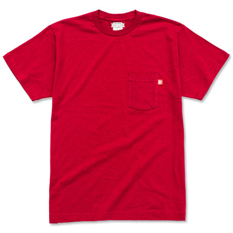"CREIGHT ""ORIGINAL POCKET TEE"" / DARK RED"
