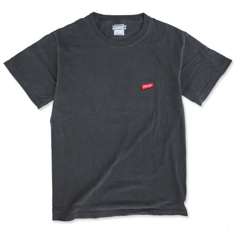 "CREIGHT""LOGO GARMENT TEE"" / PEPPER BLACK"