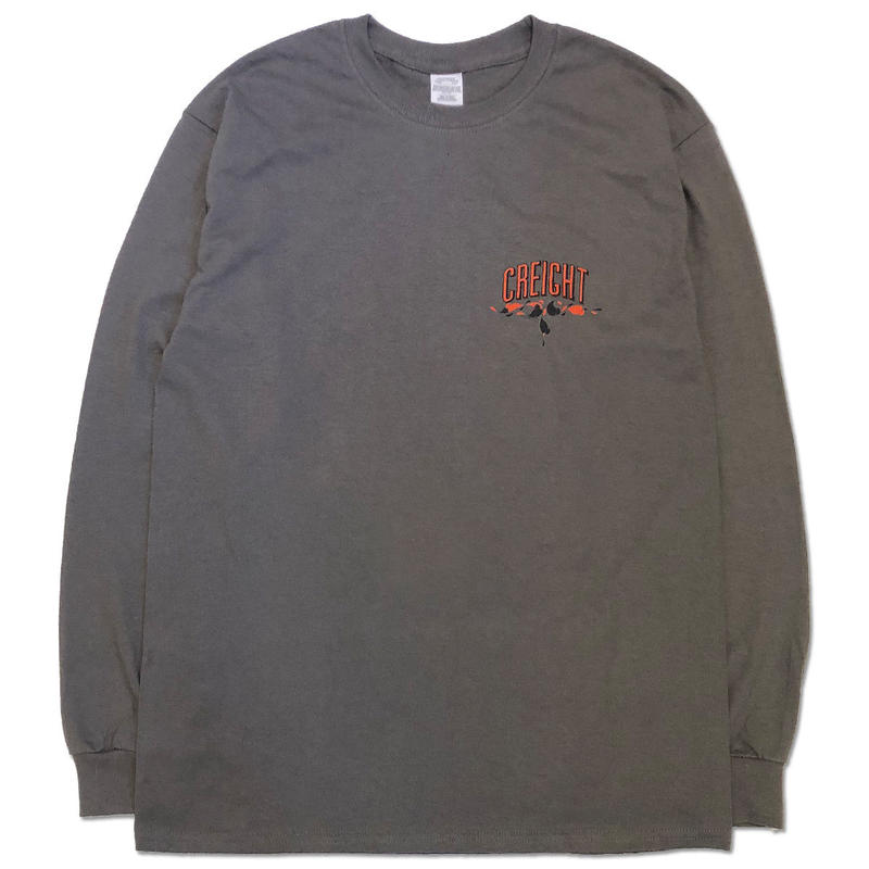 "CREIGHT×MHAK ""FRIENDSHIP COLLECTION"" L/S TEE /CHARCOAL"