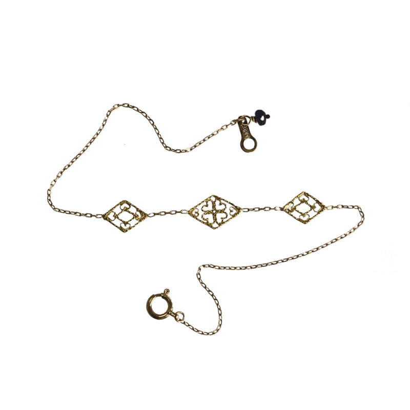 three rhombus bracelet ロンバス・ブレスレット < フィリグリー >
