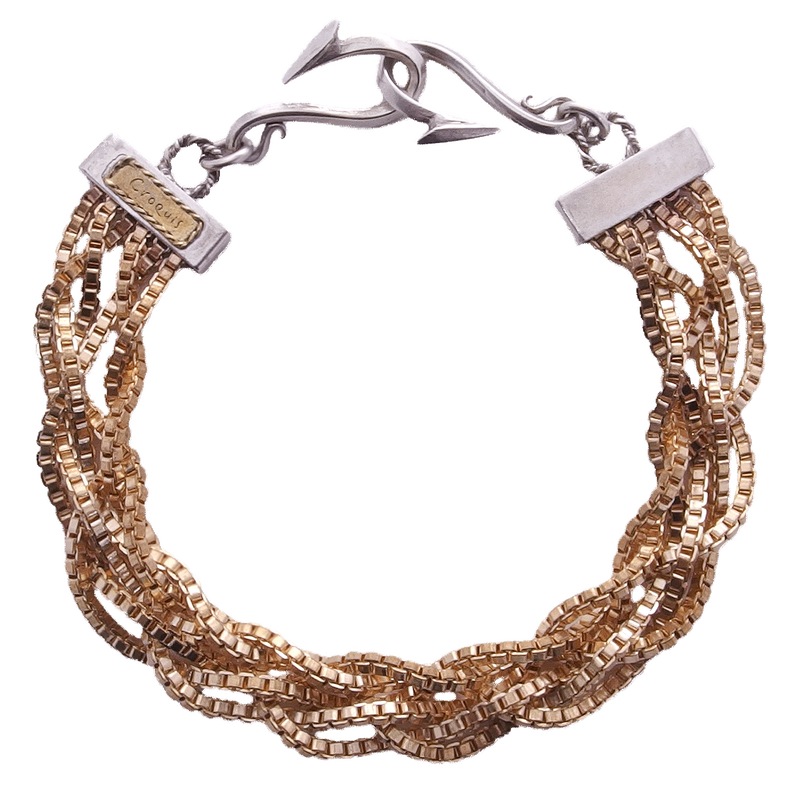 Braided Chain Bracelet / ブレイデッド・チェーン・ブレスレット