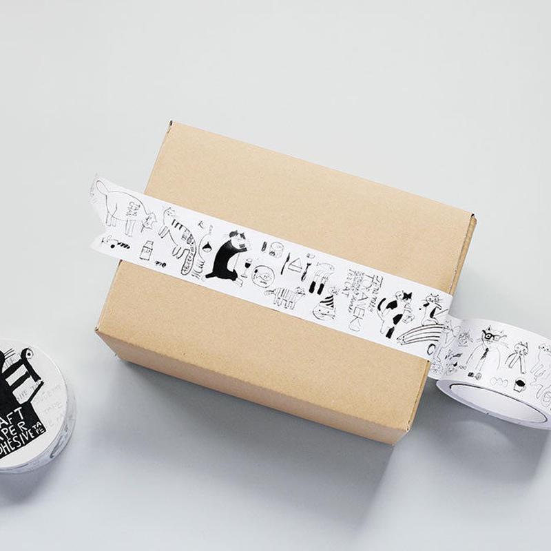 トラネコボンボンクラフト粘着テープ