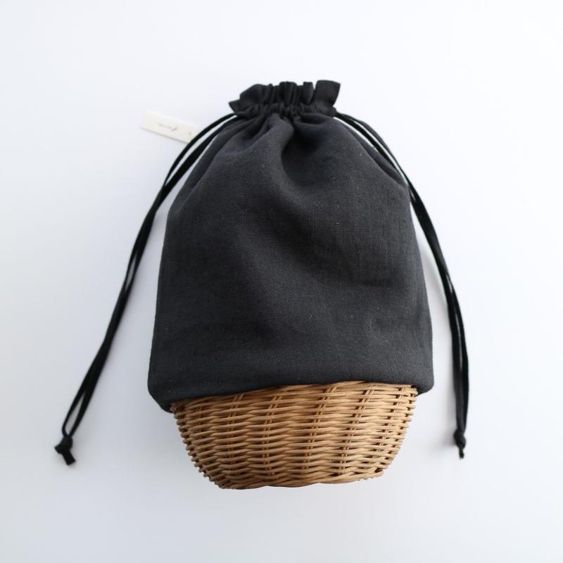 籠巾着  ・ ブラック
