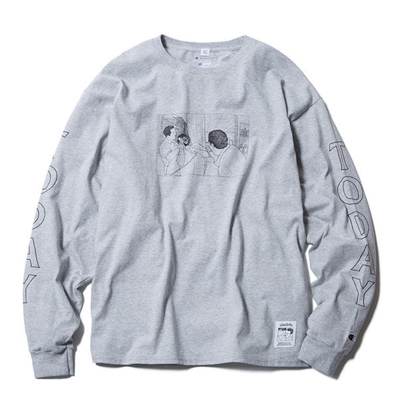 TODAY LONG SLEEVE TEE(GREY) :  STIKSTOK【CC16AW-TS-006】