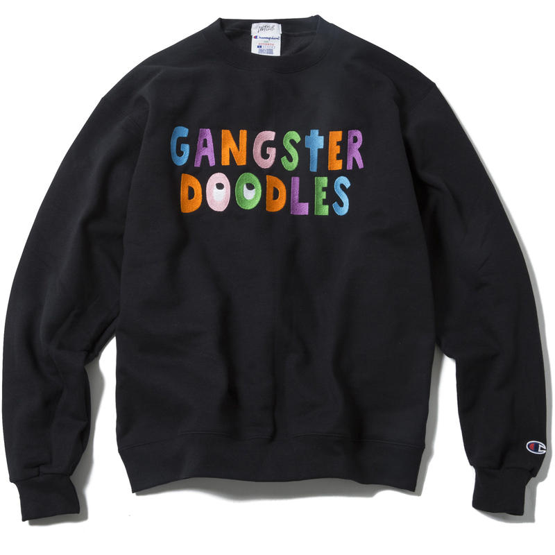 GANGSTER DOODLES CREWNECK (BLACK) :  ARTWORK by GANGSTER DOODLES【CC17AW-016】