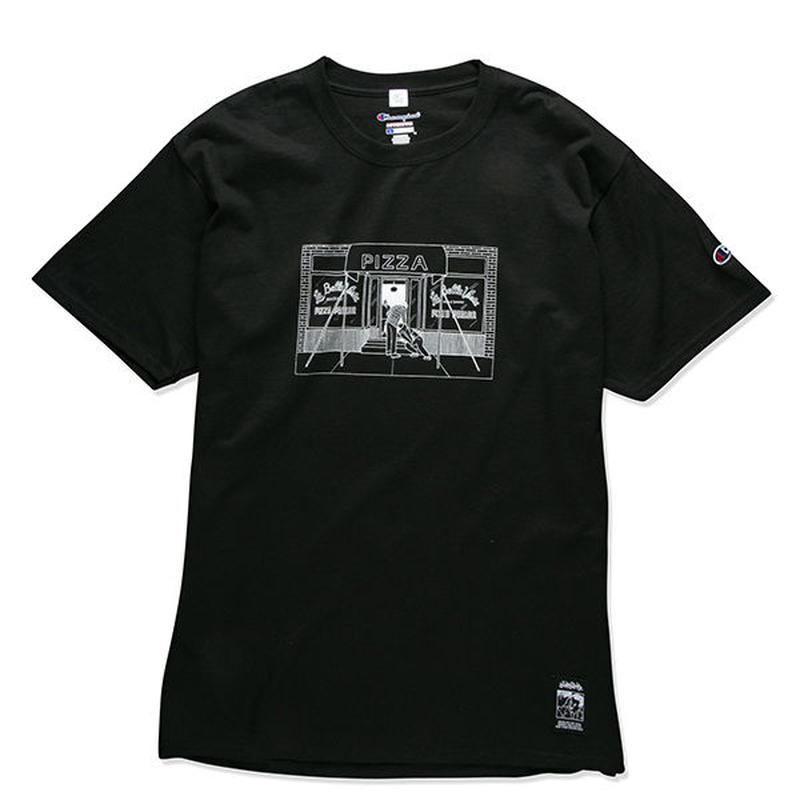 PIZZA SHOP TEE (BLACK) :  STIKSTOK【CC16AW-TS-005】