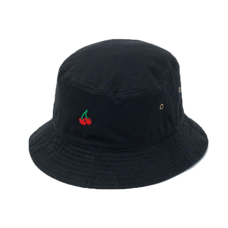 CHERRY BOY BUCKET HAT  (BLACK)【CC18SS-033】