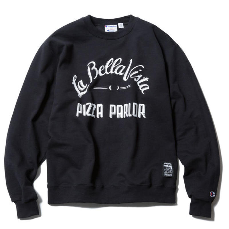 PIZZA BOY CREWNECK(BLACK) :  STIKSTOK【CC16AW-SW-004】