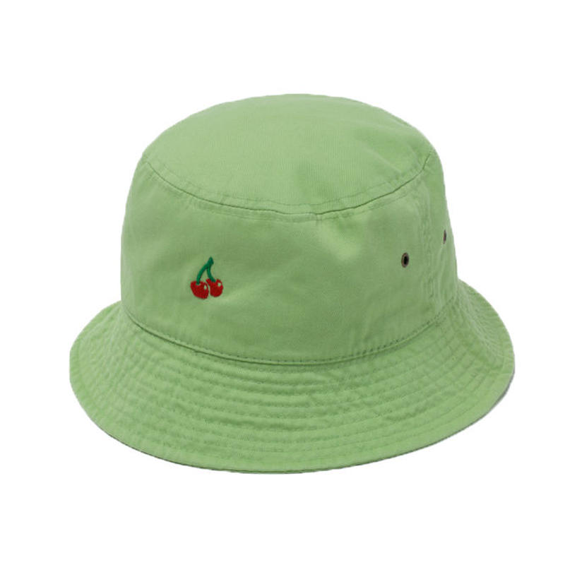 CHERRY BOY BUCKET HAT  (Yellow Green)【CC18SS-033】