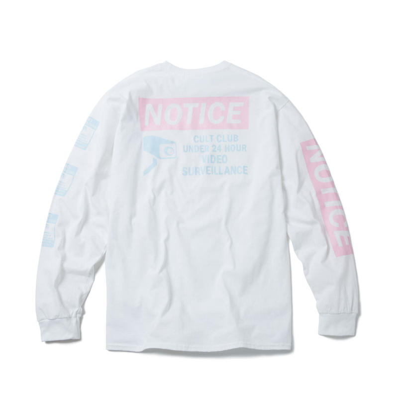 NOTICE LONG SLEEVE TSHIRT (WHITE)【CC18SS-016】