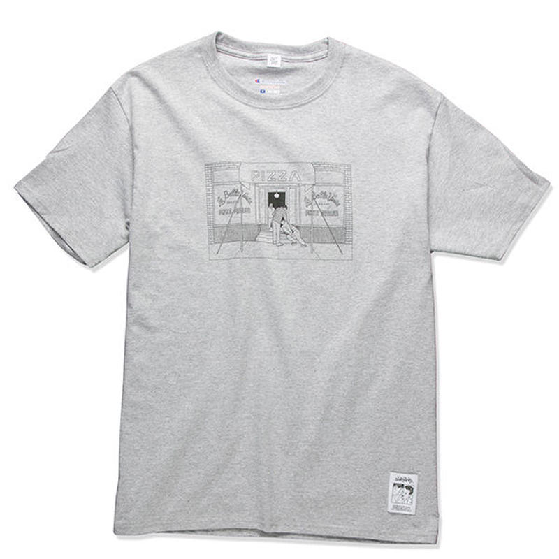 PIZZA SHOP TEE  (GREY) :  STIKSTOK【CC16AW-TS-005】