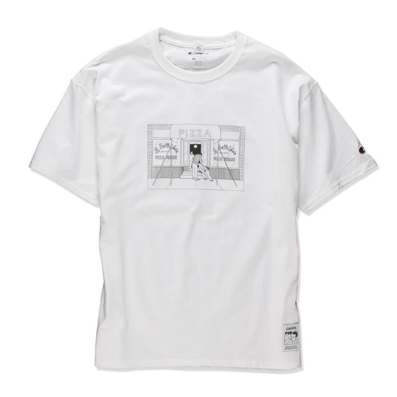 PIZZA SHOP TEE  (WHITE) :  STIKSTOK【CC16AW-TS-005】