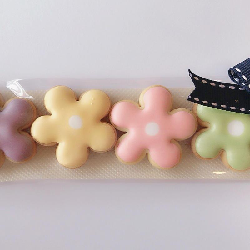 カラフルお花クッキー