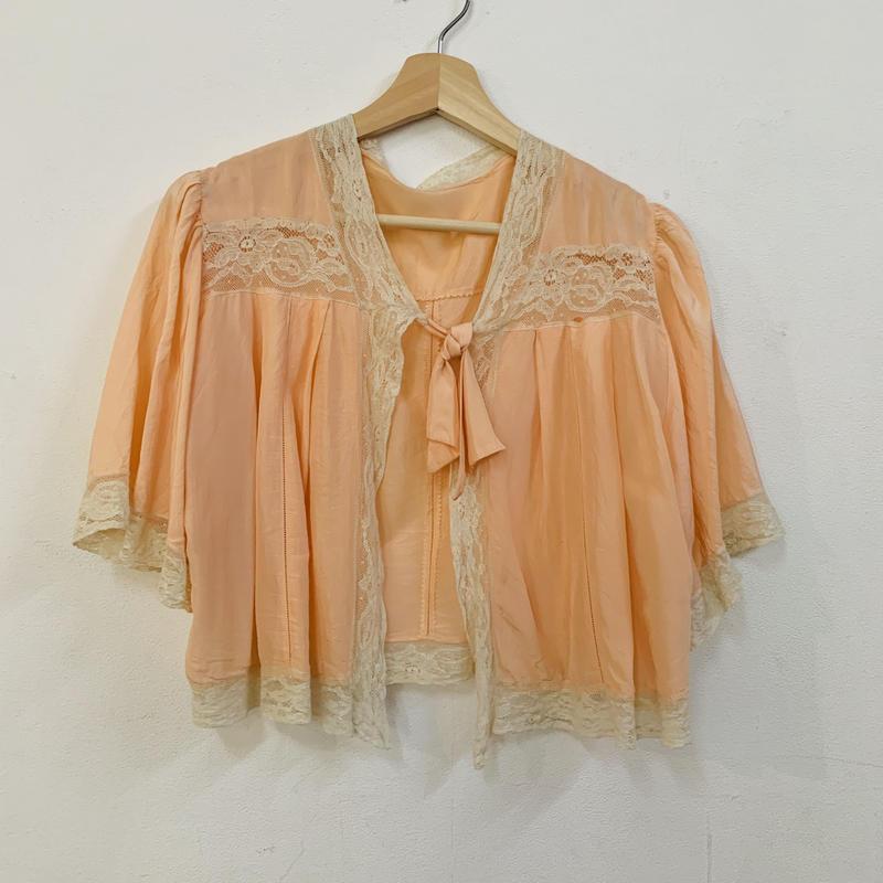 1930-40s peach lingerie cape