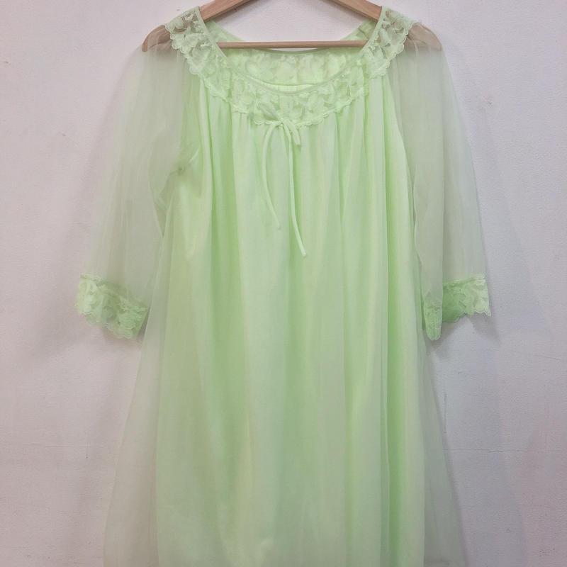 neon green night dress