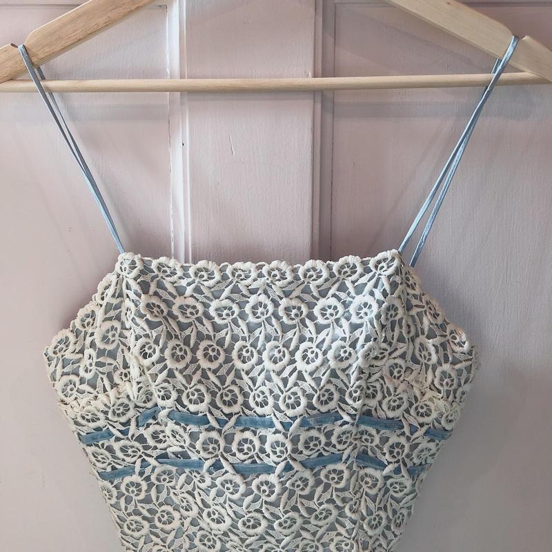 Lace camisole blue