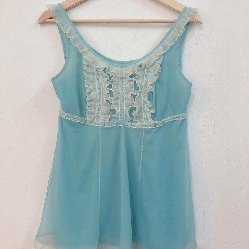 1960's mini dress blue