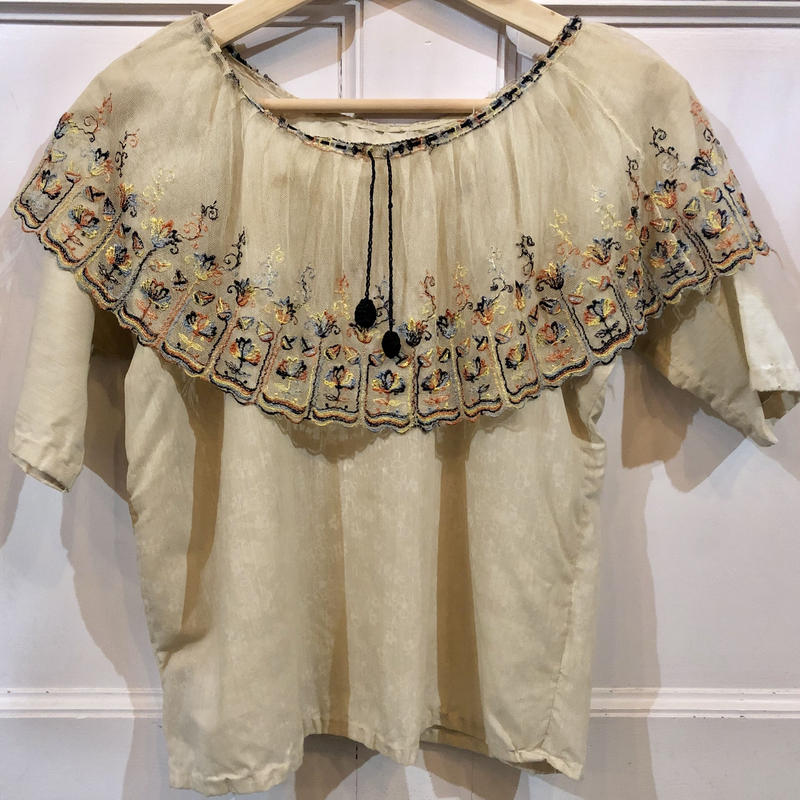Edwardian embroidery  top