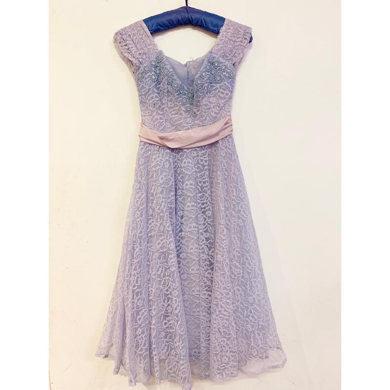 1950s Lilac tulle dress