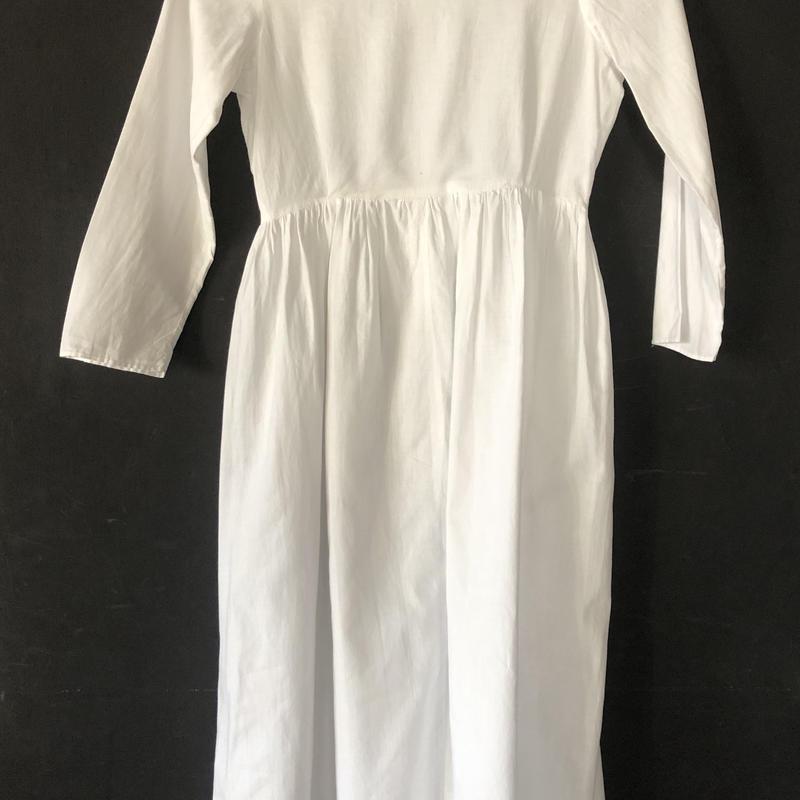 victorian empire dress cotton
