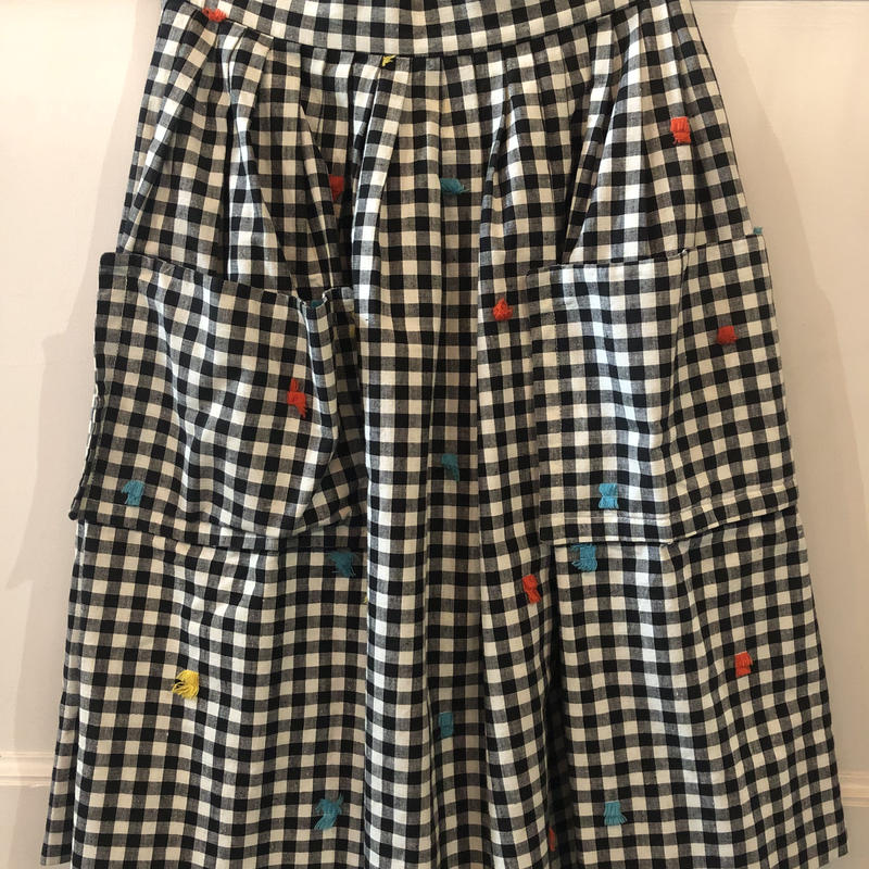 F-troupe 1950's gingham skirt Black