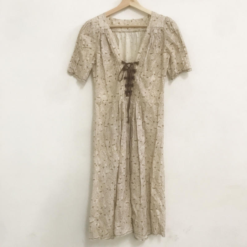 1970s lace up dress
