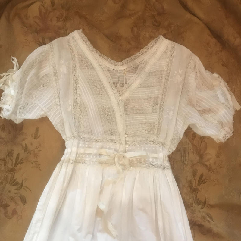 Antique cotton lace  dress