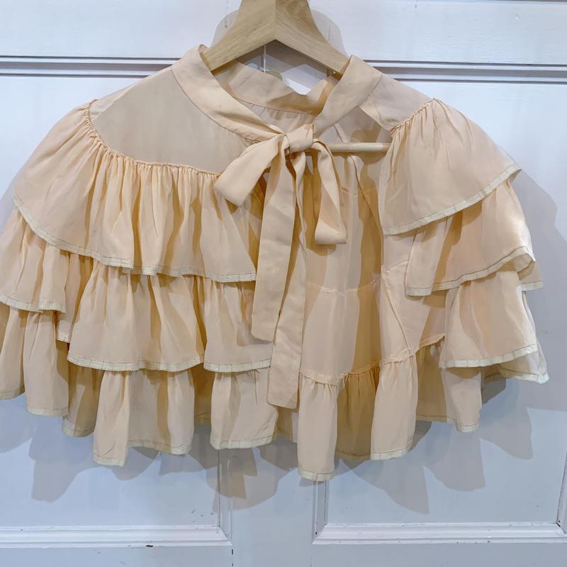 1930s peach silk cape