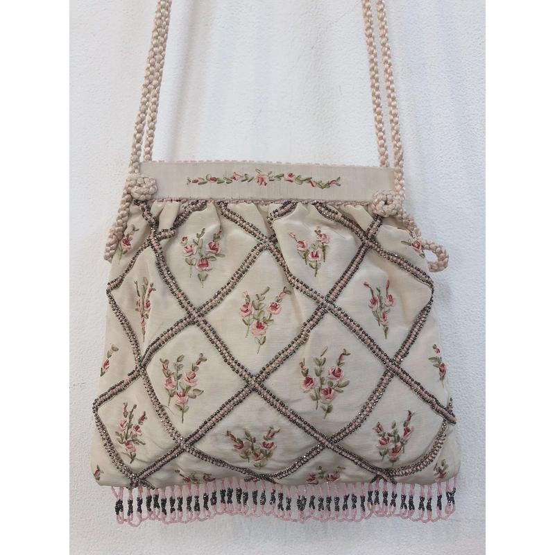 Edwardian hand embroidered bag
