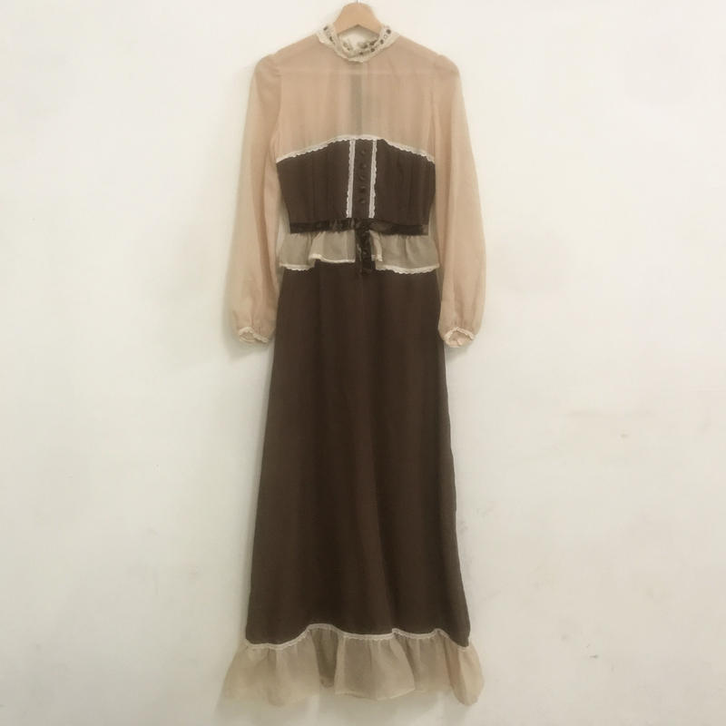 1970s chiffon dress