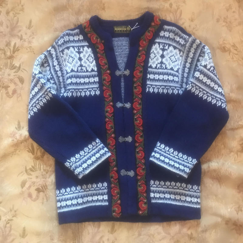 F-troupe Vintage Norwegian Knit Cardigan -  K12